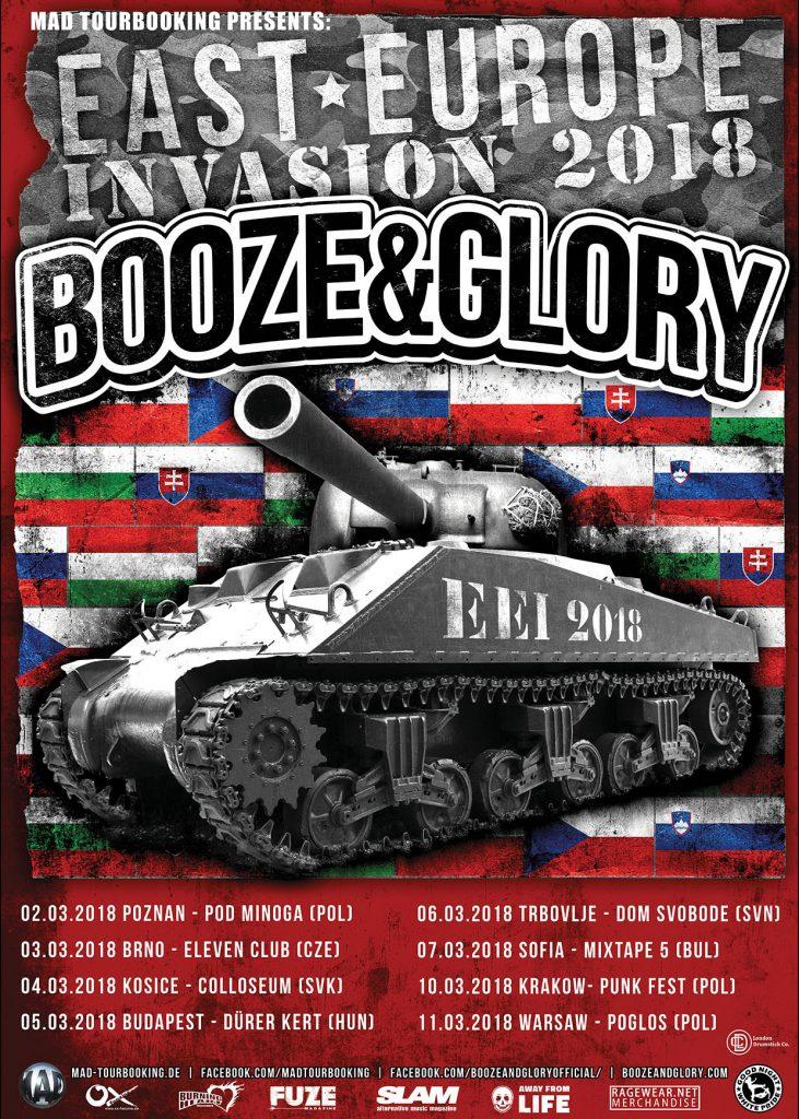Trasa Booze & Glory East Europe Invasion 2018