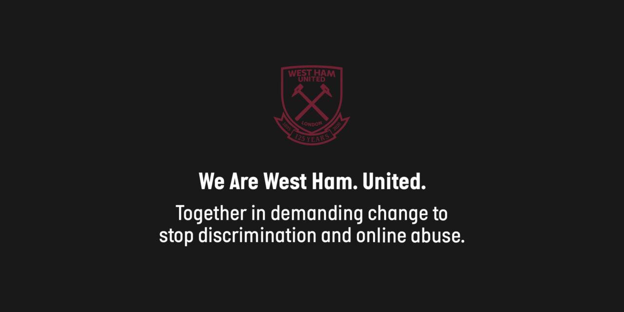 West Ham United przeciwko dyskryminacji i nadużyciom w Internecie