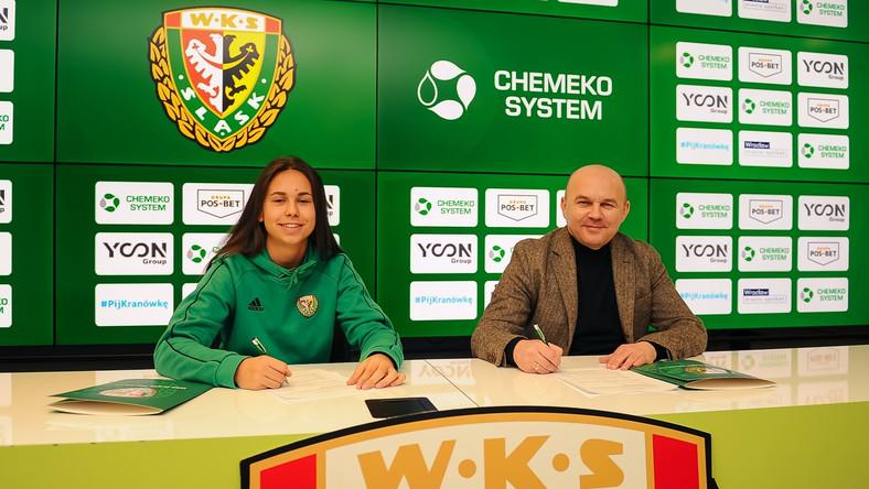 Wiktoria Kiszkis – zawodniczka West Hamu United – pozostaje w Śląsku Wrocław na kolejny sezon